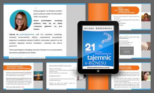 Milena Borkowska - bezpłatny ebook - sprzedaż - psychologia