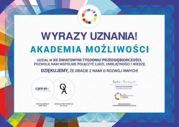 Akademia Możliwości iFundacja Światowego Tygodnia Przedsiębiorczości